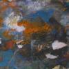 Abstrakter experssionismus, Wild, Blau orange, Malerei