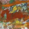 Grün orange, Informel, Abstrakte malerei, Abstrakter expressionismus