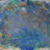 Informel, Blau, Terra di siena, Aquarellmalerei