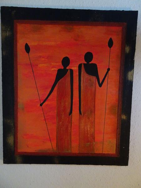 Afrika, Menschen, Frau, Abstrakt, Malerei