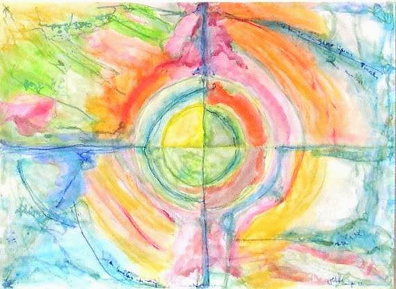 Grün, Wärme, Rot, Abstrakt, Meditation, Matilde cánepa gonzález