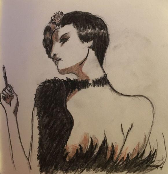 Kohlezeichnung, Zeichnung, Frau, Zeichnungen