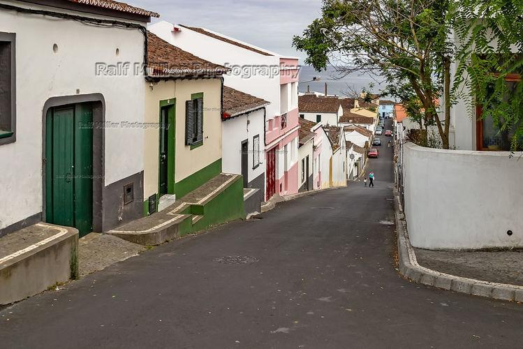 Insel, Enge straße, Sao miguel, Azoren, Fotografie
