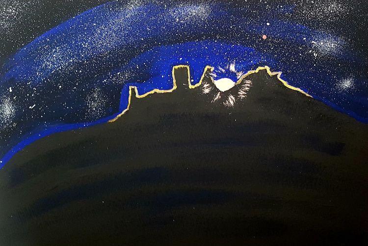 Acrylmalerei, Mond, Desenberg, Malerei