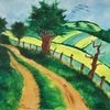 Baum, Acrylmalerei, Vogel, Sommer