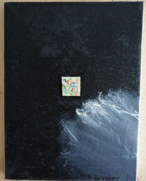 Schwarz, Abstrakt, Rahmen, Malerei,