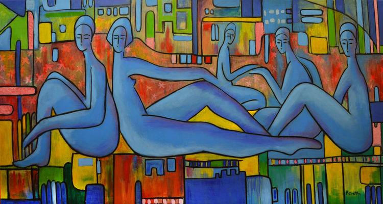 Malerei acryl, Abstrakt, Modern art, Malerei modern, Malerei