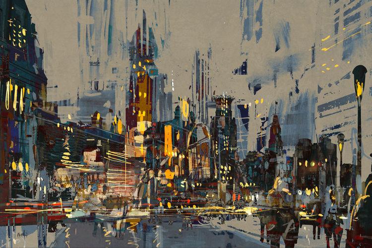 Abstrakt, Malerei, Modern art, Acrylmalerei, Malerei modern,