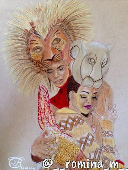 Löwe, Nala, Umarmung, Disney, Zeichnung, König