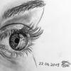 Augen, Sketching, Licht, Spiegelung