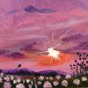 Sonnenuntergang, Wolken, Malerei, Sonnenaufgang