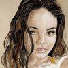 Musik, Zeichnung, Model, Sängerin