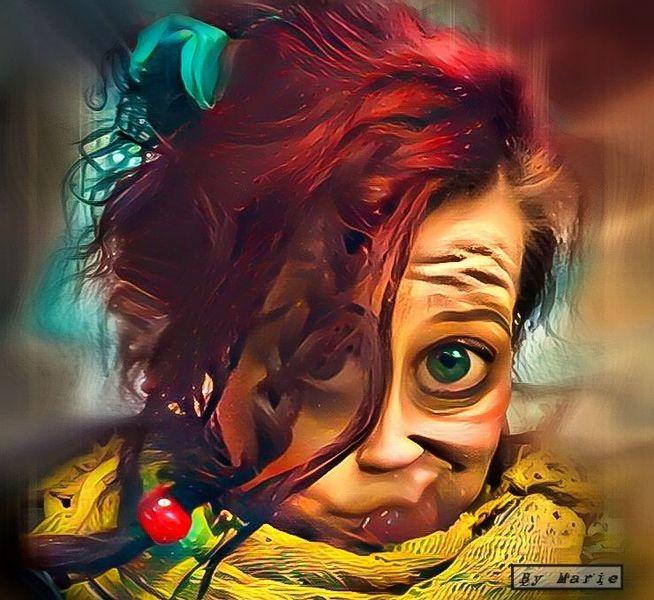 Fantasie, Figur, Farben, Digital, Digitale kunst