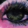 Gold, Wimpern, Augen, Pink