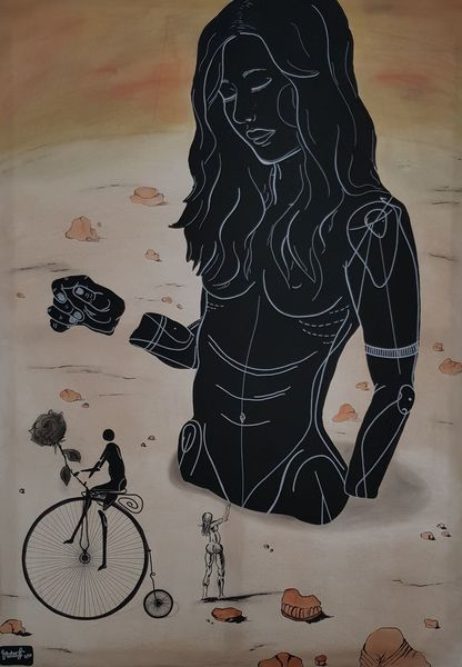 Surreal, Dalí, Mischtechnik, Entdeckung, Inspiration,