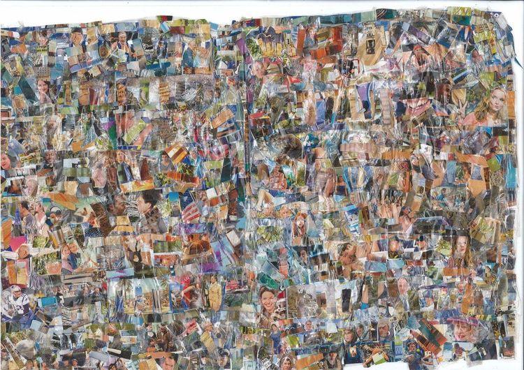 Collage, Kino, Musik, Tv, Farben, Tanz