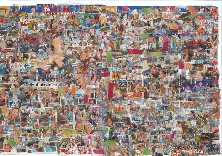 Kino, Farben, Collage, Bunt, Tv, Mischtechnik