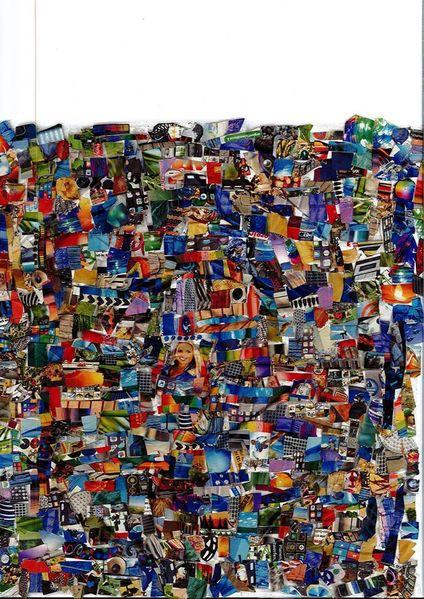 Farben, Collage, Bunt, Mischtechnik