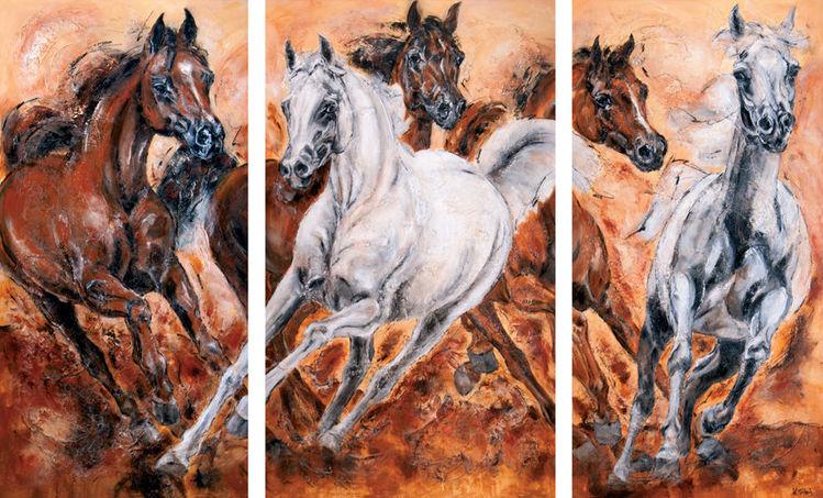 Pferde, Araber, Malerei,