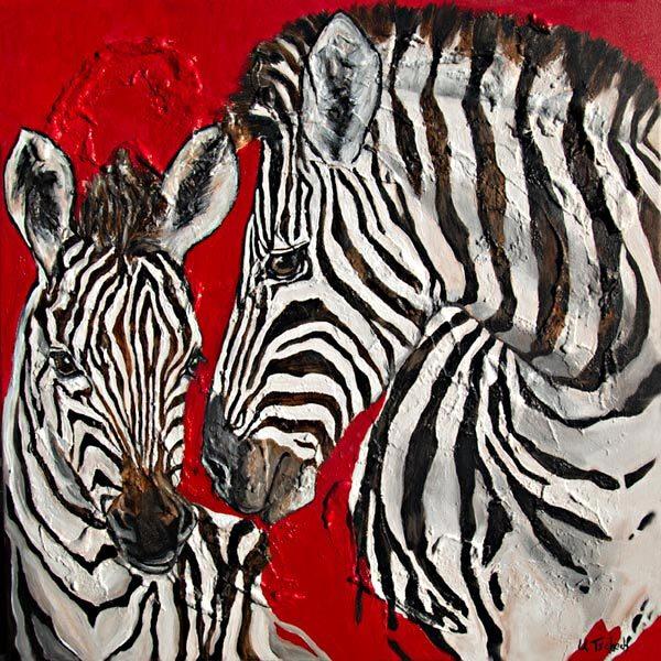 Zebra, Malerei,