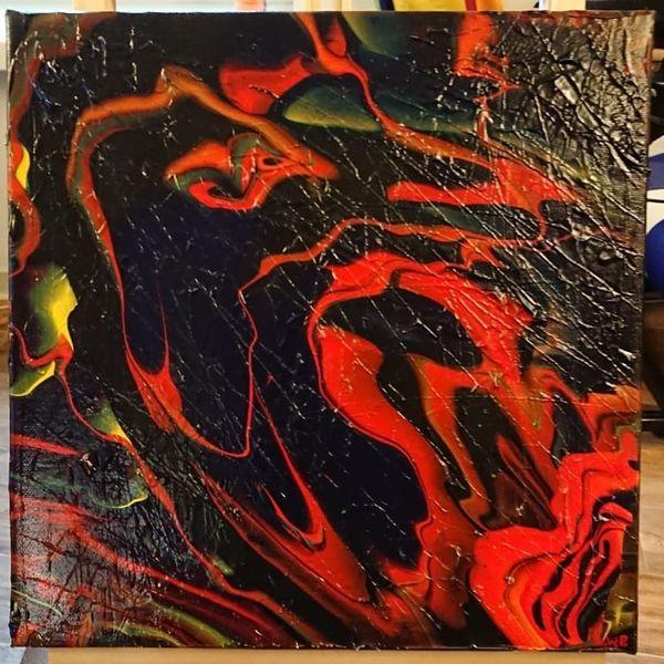 Farben, Malen, Goa, Abstrakt, Seele, Temperamalerei