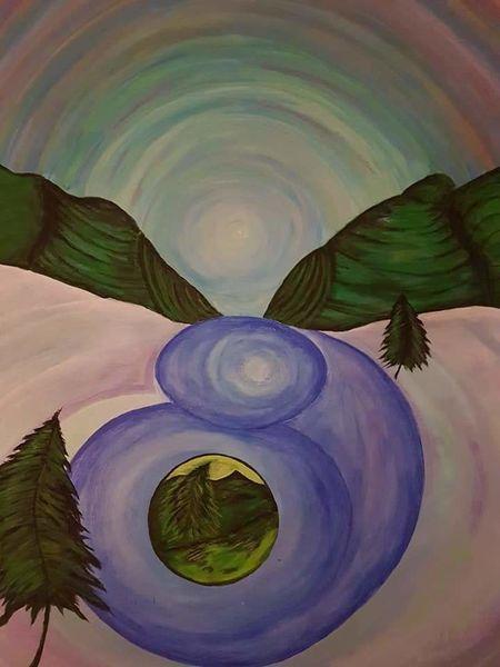 Aura, Fluss, Malerei,