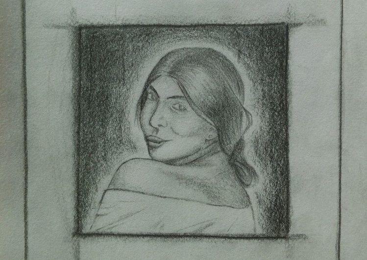 Bleistiftzeichnung, Skizze, Menschen, Zeichnungen,