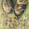 Natur, Buntstifte, Polychromos, Schuhe