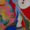 Portrait, Abstrakt, Bunt, Malerei
