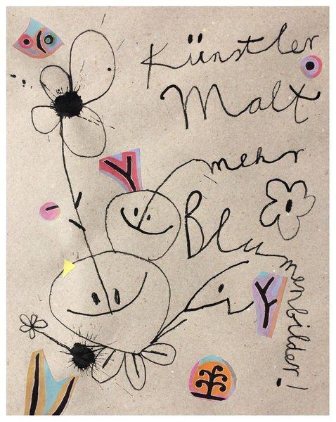Yes, Blumen, Yesart, Zeichnungen,