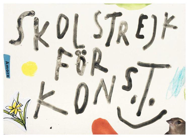 Konst, Freiheit, Yes, Schulstreik, Skolstrejk, Mischtechnik