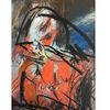 Rotkehlchen, Vogel, Portrait, Malerei