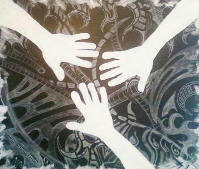 Malerei acrylmalerei, Mischtechnik,