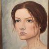 Augen, Malerei, Mädchen, Frau
