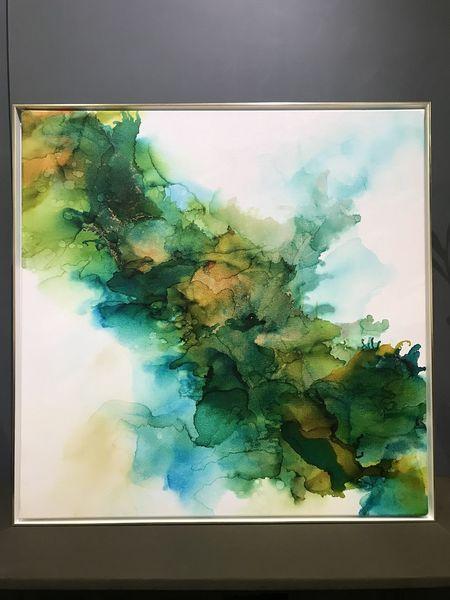 Acrylmalerei, Aquarellmalerei, Farben, Gold, Grün, Malerei