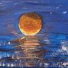 Meer, Abend, Sonnenuntergang, Malerei