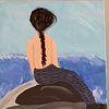 Naive malerei, Frau, Acrylmalerei, Malerei