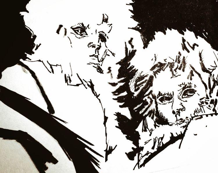 Pose, Menschen, Maske, Zeichnungen, Fragment