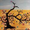 Perlenbaum, Fantasie, Abstrakt, Malerei