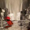 Regentag, Acrylmalerei, Abstrakt, Malerei