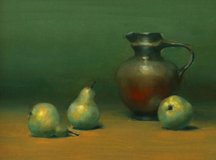 Keramik, Birne, Stillleben, Malerei