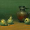 Stillleben, Keramik, Birne, Malerei