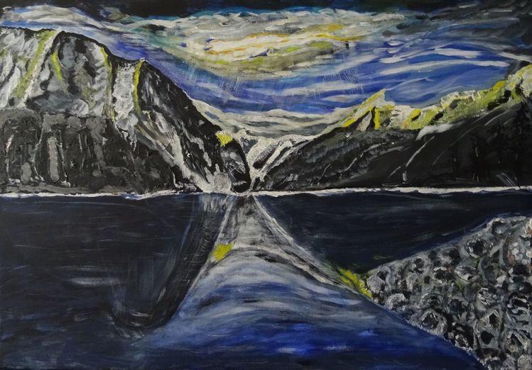 Malerei, Acryl acrylmalerei, Malerei acryl, Kanada