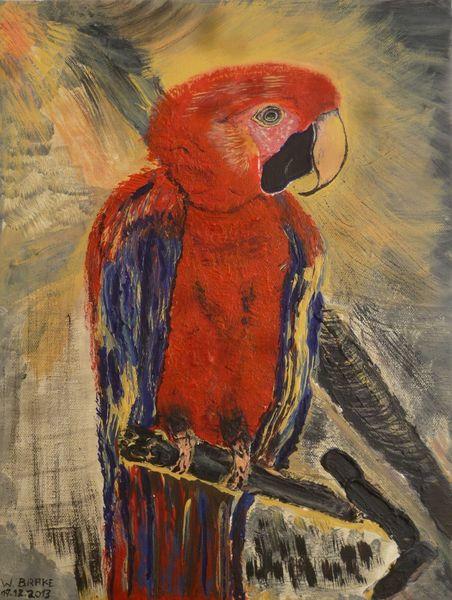 Acrylmalerei, Malerei, Papagei,