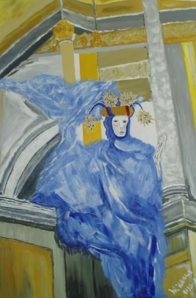Acrylmalerei, Malerei, Venedig, Karneval,