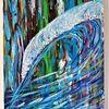 Welle, Blau, Farben, Malerei