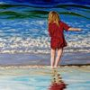Meer, Kind, Wasser, Rot