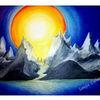 Blau, Pastellmalerei, Malerei, Landschaft