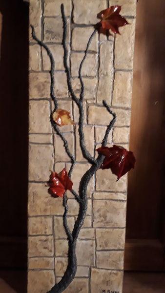 Abstrakt, Licht, Modern art, Mischtechnik, 3d, Herbst