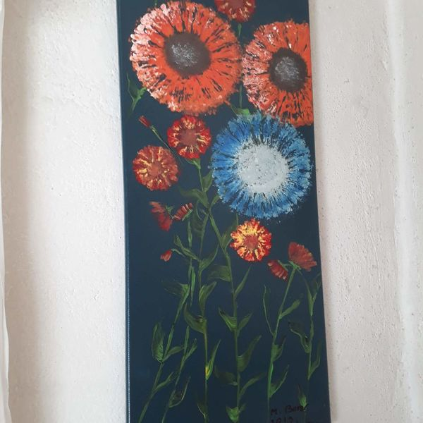 Modern art, Blumen, Farben, Malerei